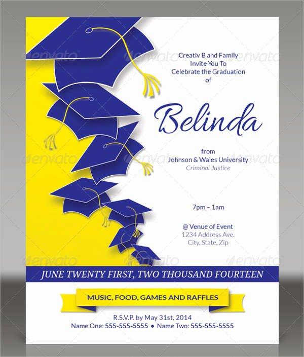 Graduation Program Template Word Inspirational 61 Invitation Flyer Templates Psd Ai Vector Eps