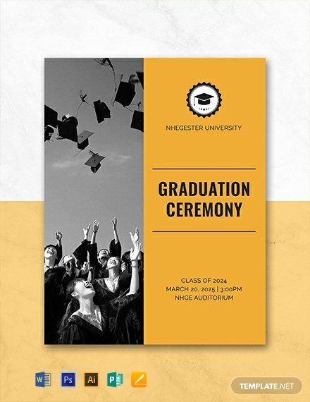 Graduation Program Template Word Inspirational Free Graduation Programs Template Word Psd