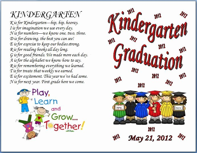 Graduation Program Template Word Luxury Designs Amazing Free Preschool Graduation Program