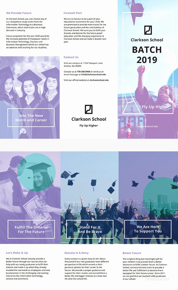 Graduation Program Template Word New 16 Graduation Brochure Templates – Free Psd Eps
