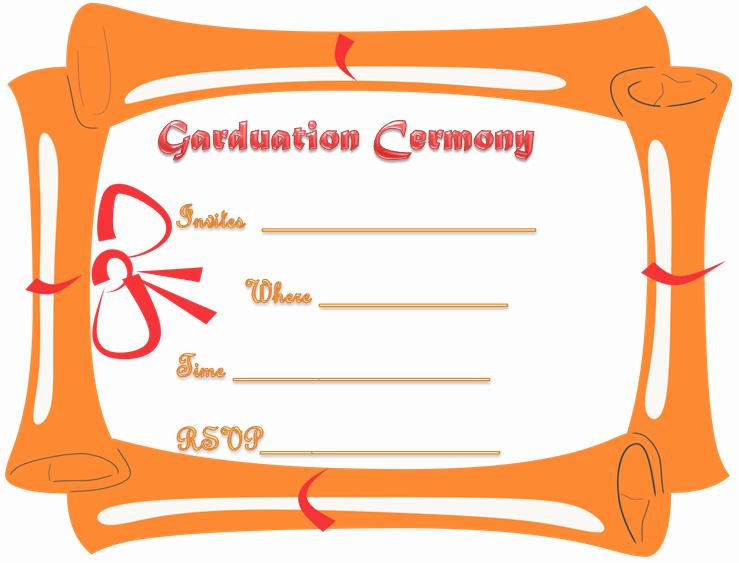 Graduation Program Template Word Unique Free Printable Graduation Ceremony Invitation Template