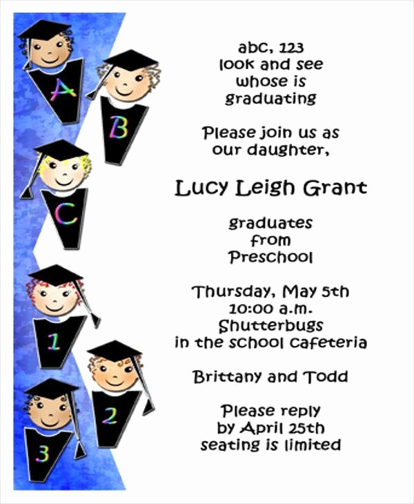 Graduation Program Template Word Unique Preschool Graduation Program Template