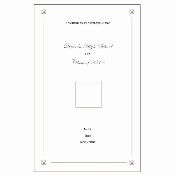Graduation Program Template Word Unique Want to Make Your Own Graduation Program Templates Make
