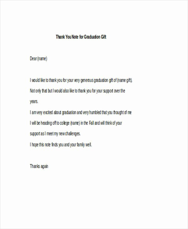 Graduation Thank You Examples Awesome Free 42 Thank You Note Examples In Pdf Doc