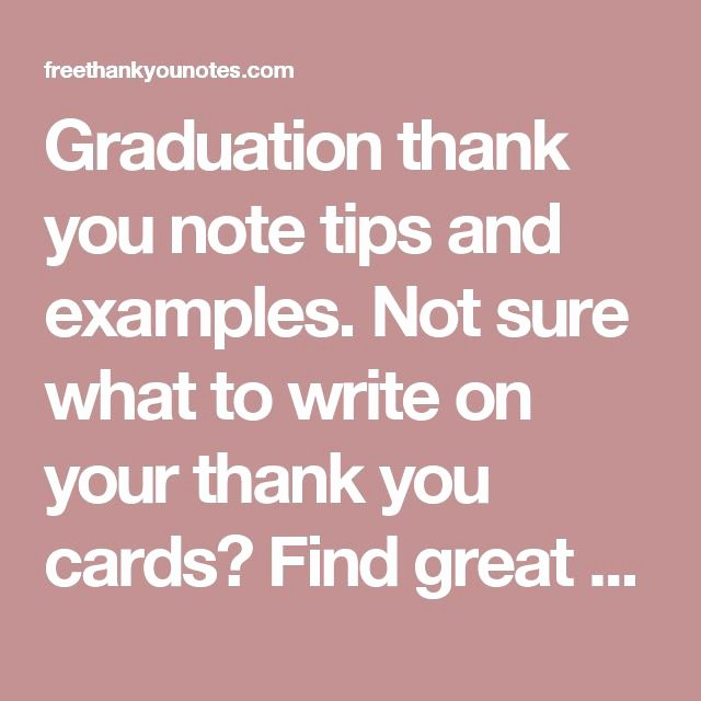 Graduation Thank You Examples Beautiful Best 25 Graduation Thank You Cards Ideas On Pinterest