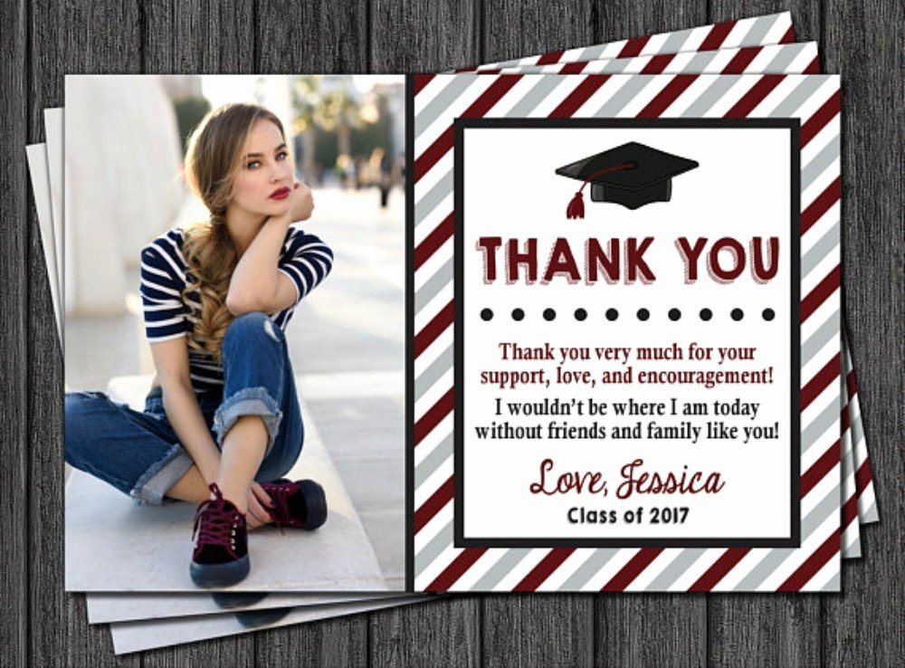 Graduation Thank You Examples Best Of 10 Graduation Thank You Card Examples Editable Psd Ai