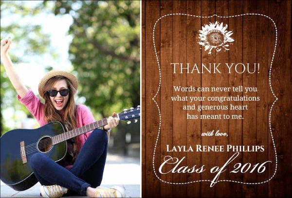 Graduation Thank You Examples Fresh Free Gift Cards