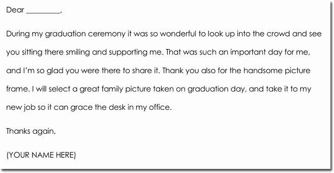 Graduation Thank You Examples Luxury 8 Graduation Thank You Note Templates & Wording Ideas