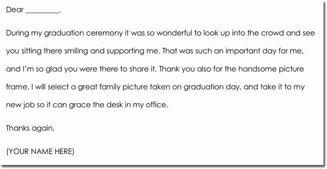 Graduation Thank You Examples Luxury 8 Graduation Thank You Note Templates & Wording Ideas
