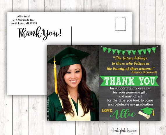 Graduation Thank You Examples Luxury Graduation Thank You Cards Can Be Any Colors Mascot Etc