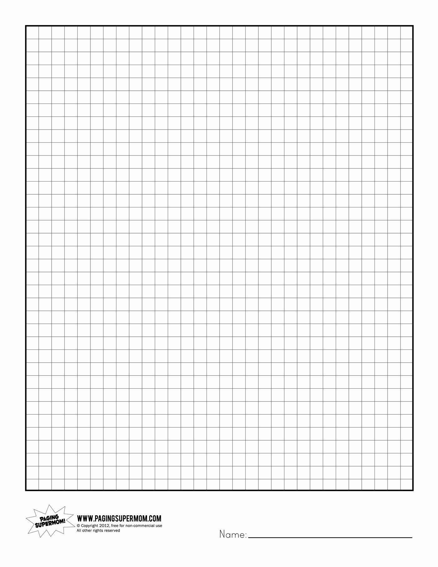 Graph Paper Printable Free Unique Printable Graph Paper Paging Supermom