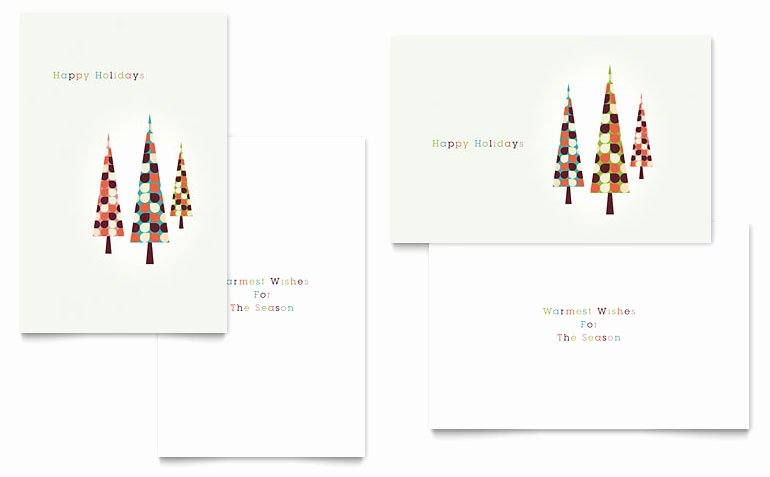 Greeting Card Templates for Word Awesome Modern Holiday Trees Greeting Card Template Word & Publisher