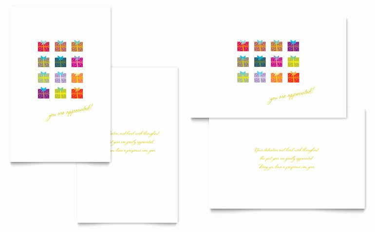 Greeting Card Templates for Word Beautiful Christmas Presents Greeting Card Template Word & Publisher