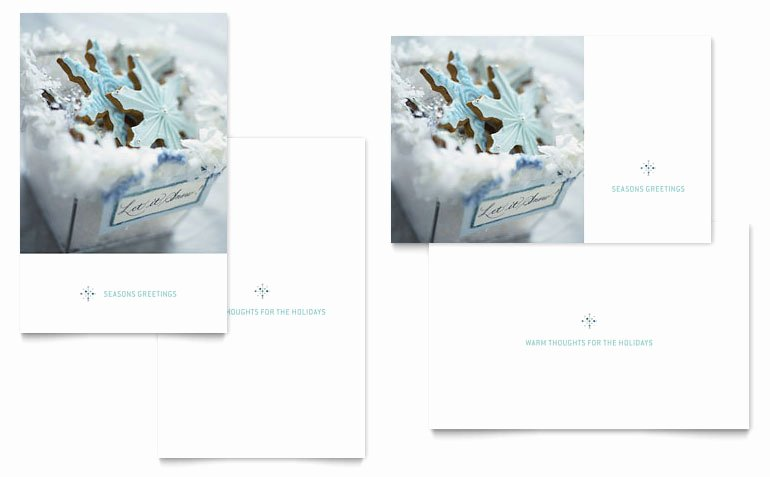Greeting Card Templates for Word Best Of Snowflake Cookies Greeting Card Template Word & Publisher