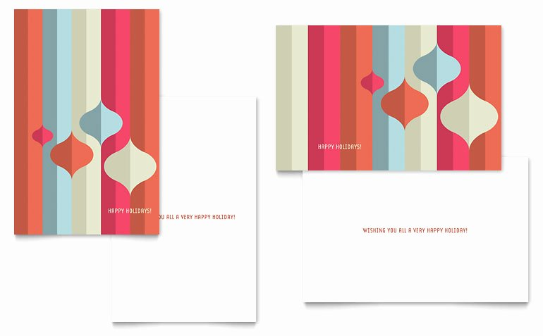 Greeting Card Templates for Word Elegant Modern ornaments Greeting Card Template Word & Publisher