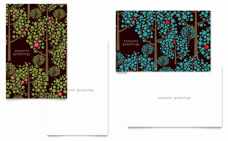 Greeting Card Templates for Word Fresh Stylish Holiday Trees Greeting Card Template Word