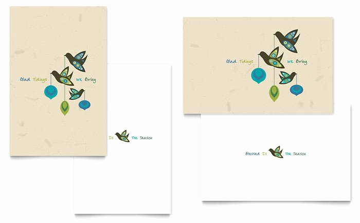 Greeting Card Templates for Word Lovely Glad Tidings Greeting Card Template Design