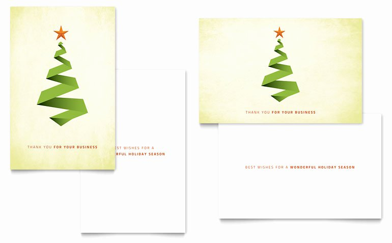 Greeting Card Templates for Word Lovely Ribbon Tree Greeting Card Template Word & Publisher