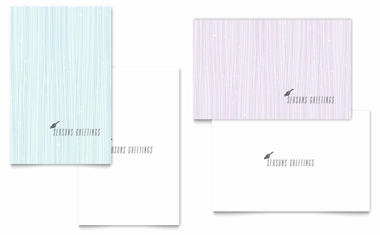 Greeting Card Templates for Word New Snow Bird Greeting Card Template Word & Publisher