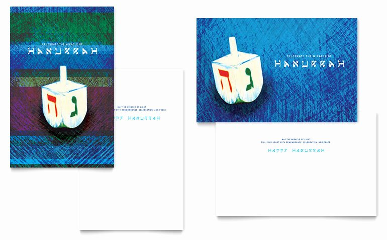 Greeting Card Templates for Word Unique Hanukkah Dreidel Greeting Card Template Word & Publisher
