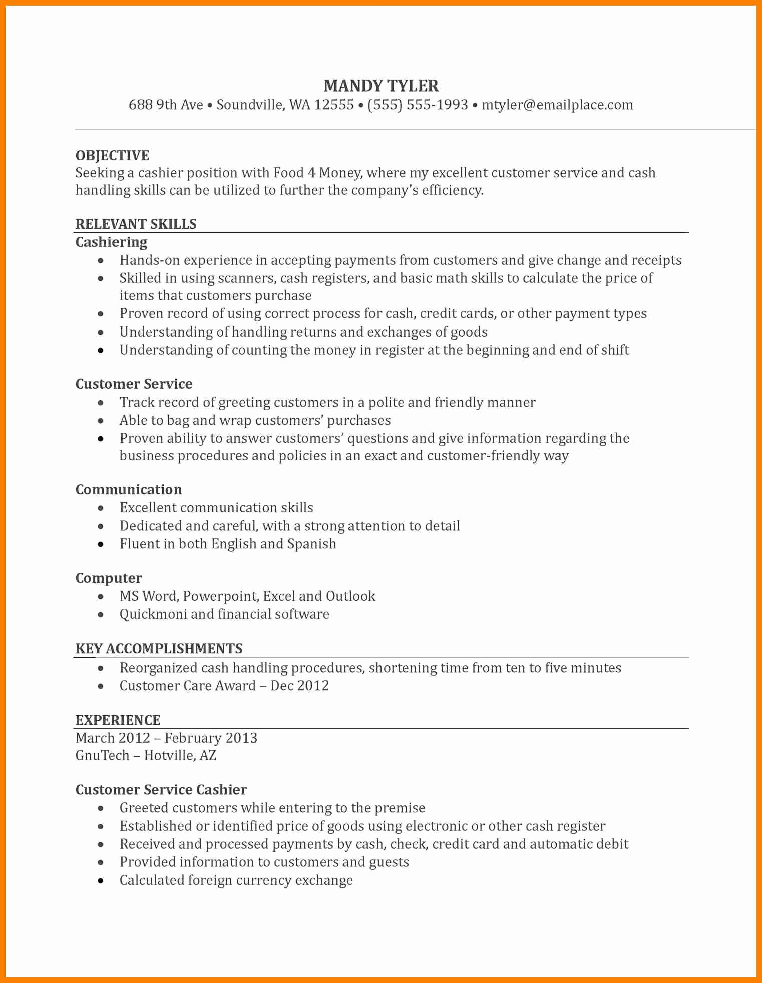 Grocery Store Manager Resume Awesome 6 Grocery Store Resume