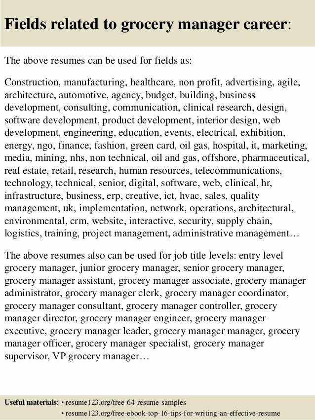 Grocery Store Manager Resume Awesome top 8 Grocery Manager Resume Samples