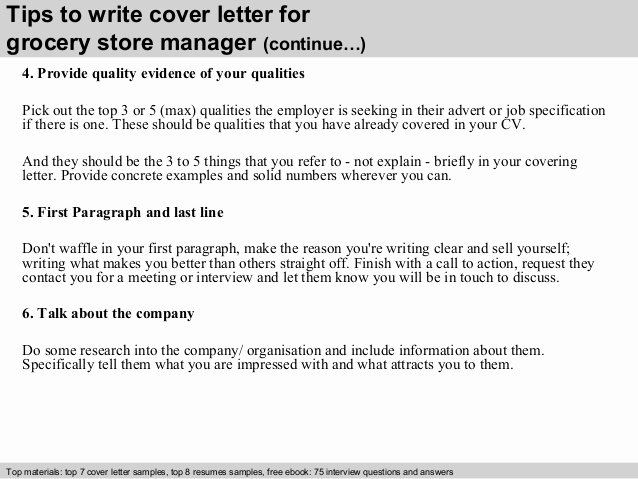 Grocery Store Manager Resume Best Of Grocery Store Manager Cover Letter