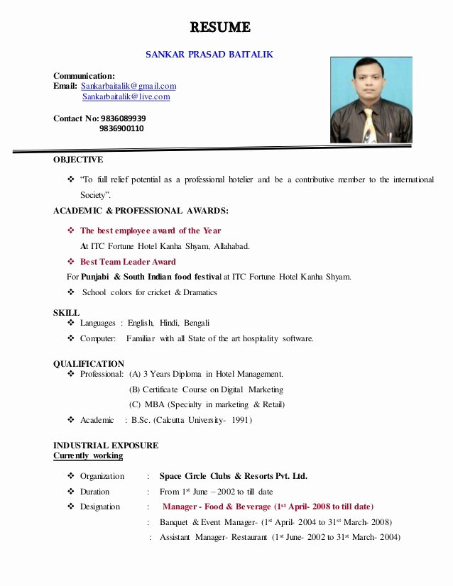 Grocery Store Manager Resume Best Of Resume for Food & Beverage Manager