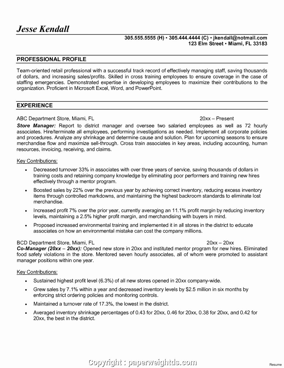 Grocery Store Manager Resume Fresh New Convenience Store Manager Resume Template Store
