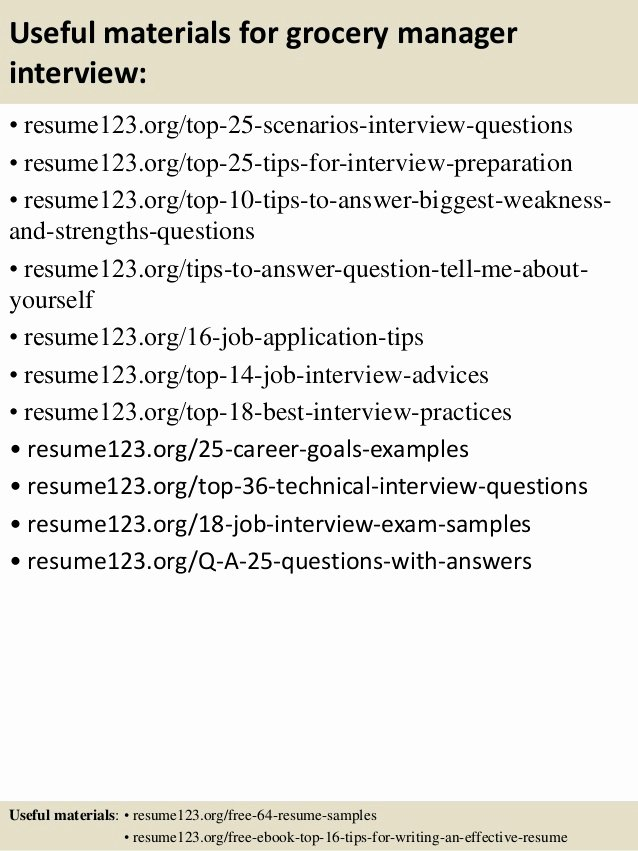 Grocery Store Manager Resume Unique top 8 Grocery Manager Resume Samples