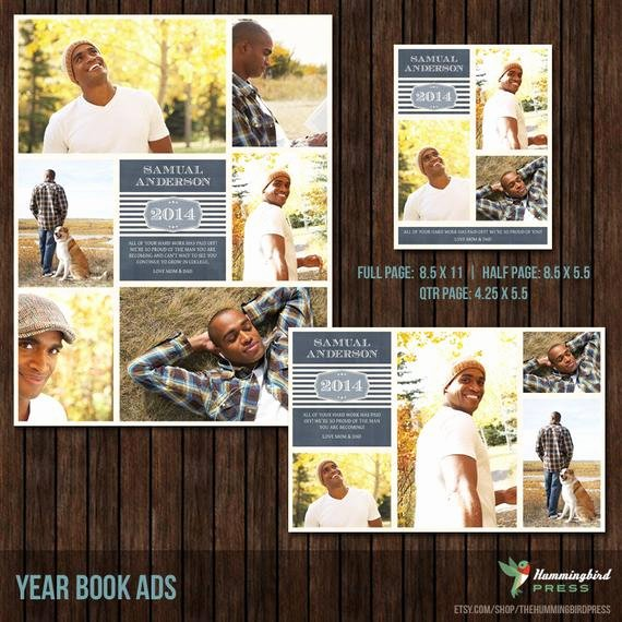Half Page Advertisement Template Beautiful Items Similar to Instant Download Yearbook Ad Templates