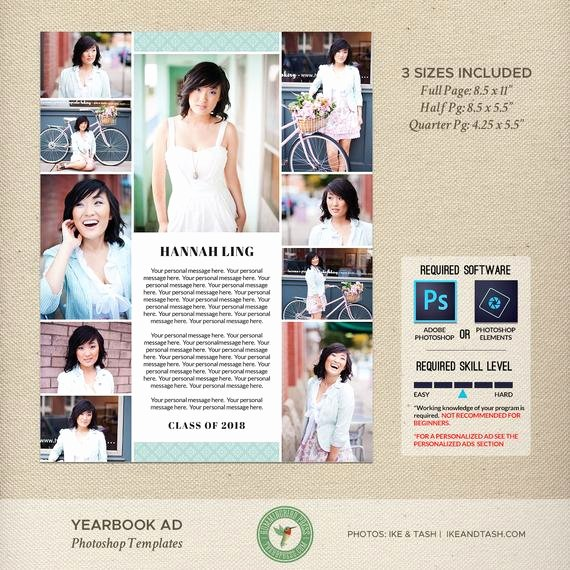 Half Page Advertisement Template Fresh Senior Yearbook Ad Templates Graduation Ad High School