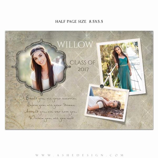 Half Page Advertisement Template Lovely ashe Design Senior Yearbook Ad