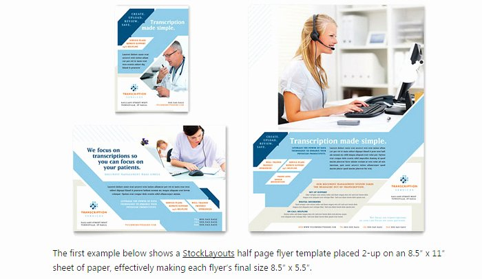 Half Page Advertisement Template Luxury 6 Half Page Flyer Template