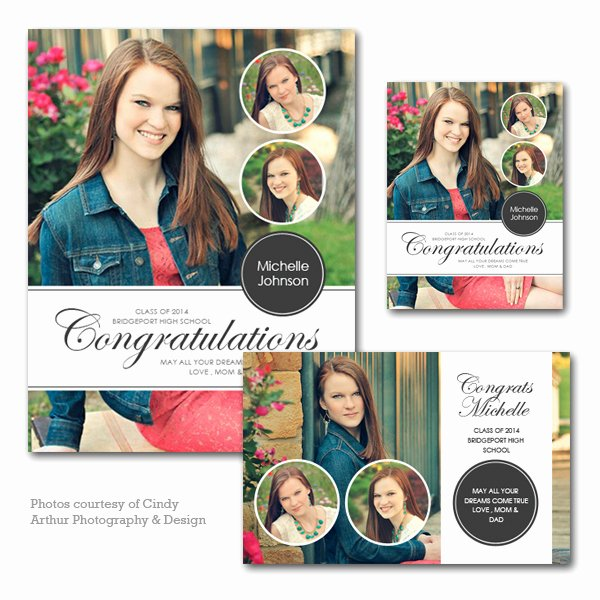 Half Page Advertisement Template Luxury Senior Yearbook Ad Set