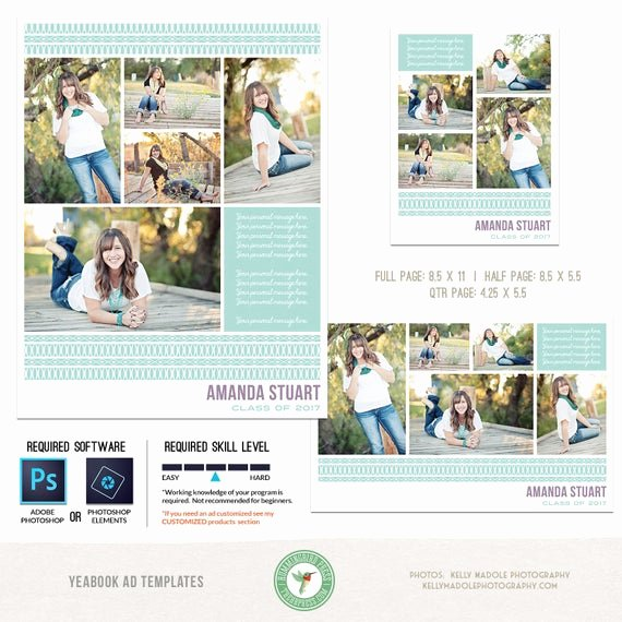Half Page Advertisement Template New Yearbook Ad Templates Senior Ad Graduation Ad High School