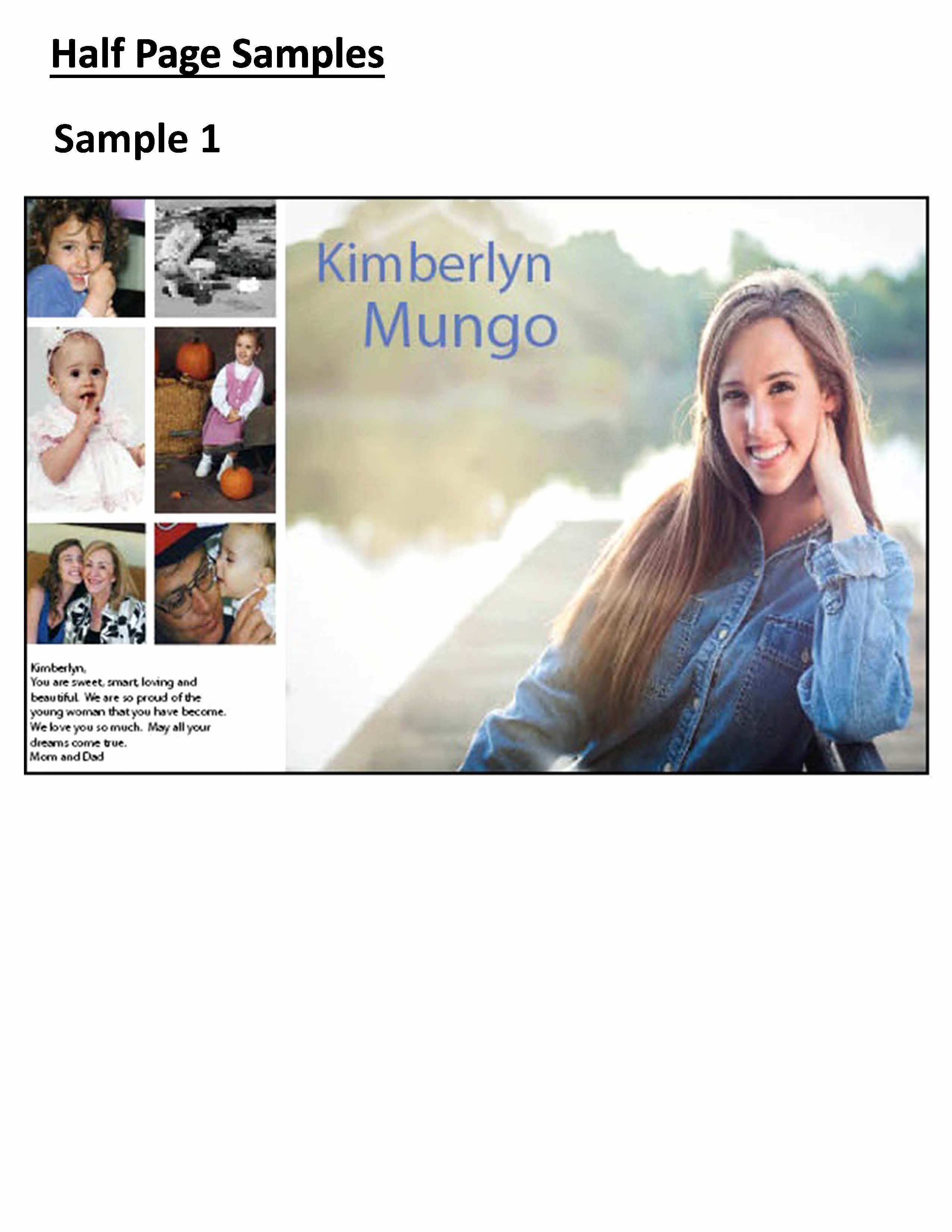 Half Page Advertisement Template Unique Mauldin High School Yearbook Senior Pages