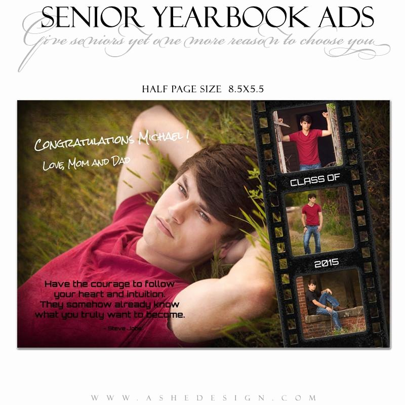 Half Page Advertisement Template Unique Senior Yearbook Ads for Shop