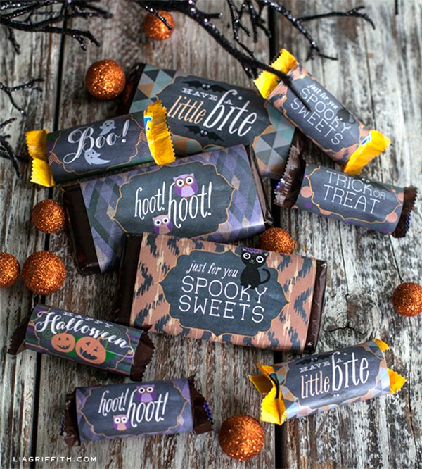 Halloween Candy Bar Wrappers Printables Awesome Chalkboard Halloween Printables