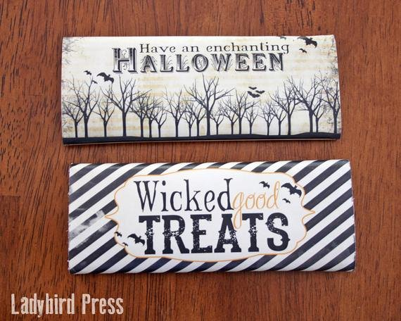 Halloween Candy Bar Wrappers Printables Elegant Printable Halloween Candy Bar Wrappers Instant