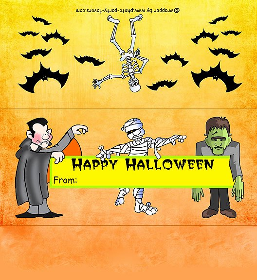Halloween Candy Bar Wrappers Printables Elegant Regular Size Monsters Halloween Candy Bar Wrapper Free