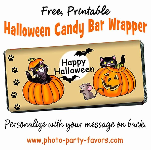 Halloween Candy Bar Wrappers Printables Inspirational Free Halloween Printable Candy Bar Wrappers Personalize