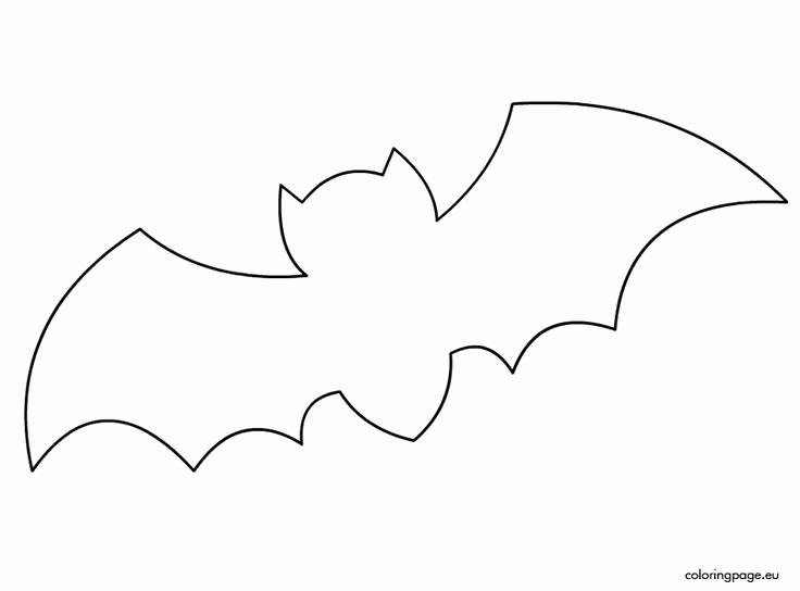 Halloween Templates to Cut Out Best Of Bat Template