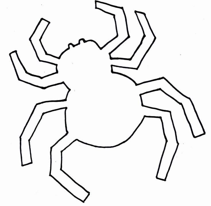 Halloween Templates to Cut Out Best Of Spider Cut Out Template