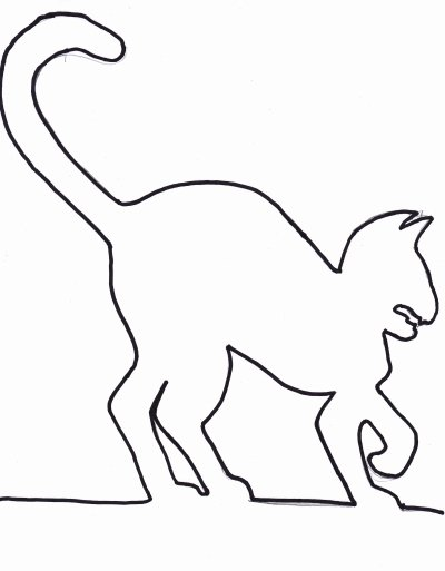 Halloween Templates to Cut Out Lovely Best S Of Cat Cut Out Template Cat Template