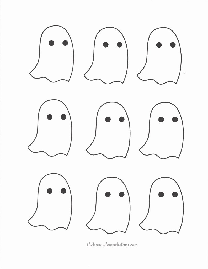 Halloween Templates to Cut Out Luxury Diy Ghostly Halloween Garland Calyx & Corolla