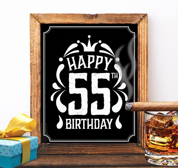 Happy 55th Birthday Images Awesome Happy 55th Birthday Decoration 55 Th Birthday 55 Birthday Card