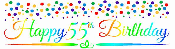 Happy 55th Birthday Images Beautiful Cakesupplyshop Item 055rpb Happy 55th Birthdayrainbow Wall