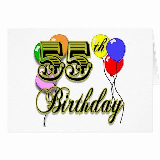 Happy 55th Birthday Images Fresh Happy 55th Birthday Celebration Card