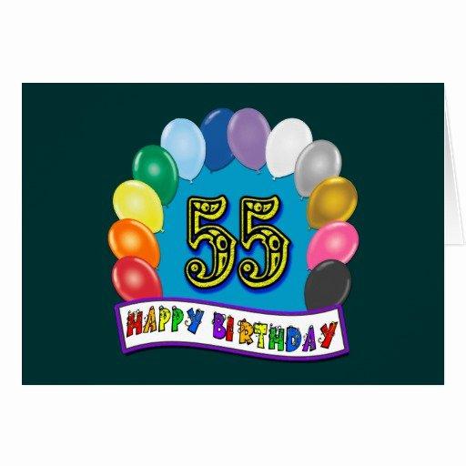 Happy 55th Birthday Images Luxury 55th Birthday Balloons Happy Birthday Card